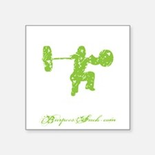 "CLEAN LIKE A GIRL - LIME Square Sticker 3"" x 3"""
