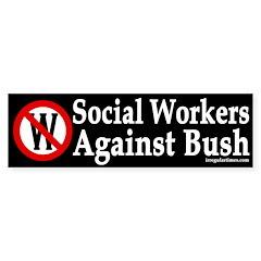 Social Workers Against Bush (sticker)