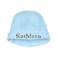 Kathleen Bright Flowers baby hat