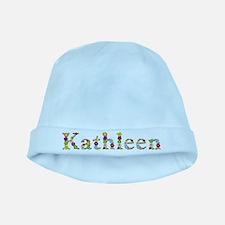 Kathleen Bright Flowers baby hat