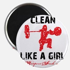 CLEAN LIKE A GIRL - WHITE II Magnet