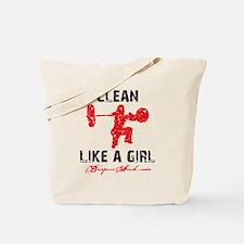 CLEAN LIKE A GIRL - WHITE II Tote Bag