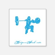 "CLEAN LIKE A GIRL - BLUE Square Sticker 3"" x 3"""