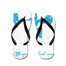 CLEAN LIKE A GIRL - BLUE Flip Flops