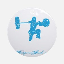 CLEAN LIKE A GIRL - BLUE Round Ornament