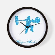 CLEAN LIKE A GIRL - BLUE Wall Clock