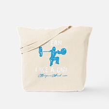 CLEAN LIKE A GIRL - BLUE Tote Bag