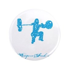 "CLEAN LIKE A GIRL - BLUE 3.5"" Button"