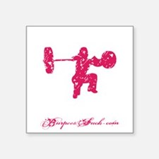 "CLEAN LIKE A GIRL - PINK Square Sticker 3"" x 3"""