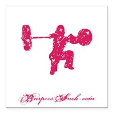 "CLEAN LIKE A GIRL - PINK Square Car Magnet 3"" x 3"""