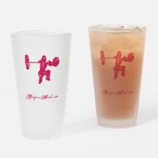 CLEAN LIKE A GIRL - PINK Drinking Glass