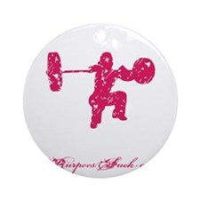 CLEAN LIKE A GIRL - PINK Round Ornament