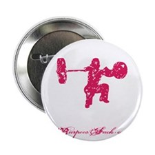 "CLEAN LIKE A GIRL - PINK 2.25"" Button"