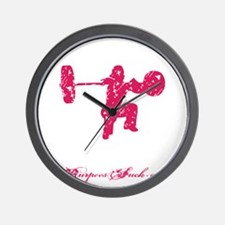 CLEAN LIKE A GIRL - PINK Wall Clock