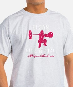 CLEAN LIKE A GIRL - PINK T-Shirt