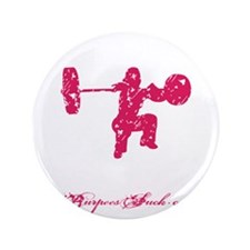 "CLEAN LIKE A GIRL - PINK 3.5"" Button"
