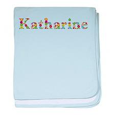Katharine Bright Flowers baby blanket