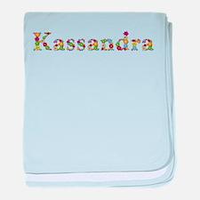 Kassandra Bright Flowers baby blanket