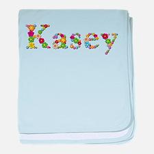 Kasey Bright Flowers baby blanket