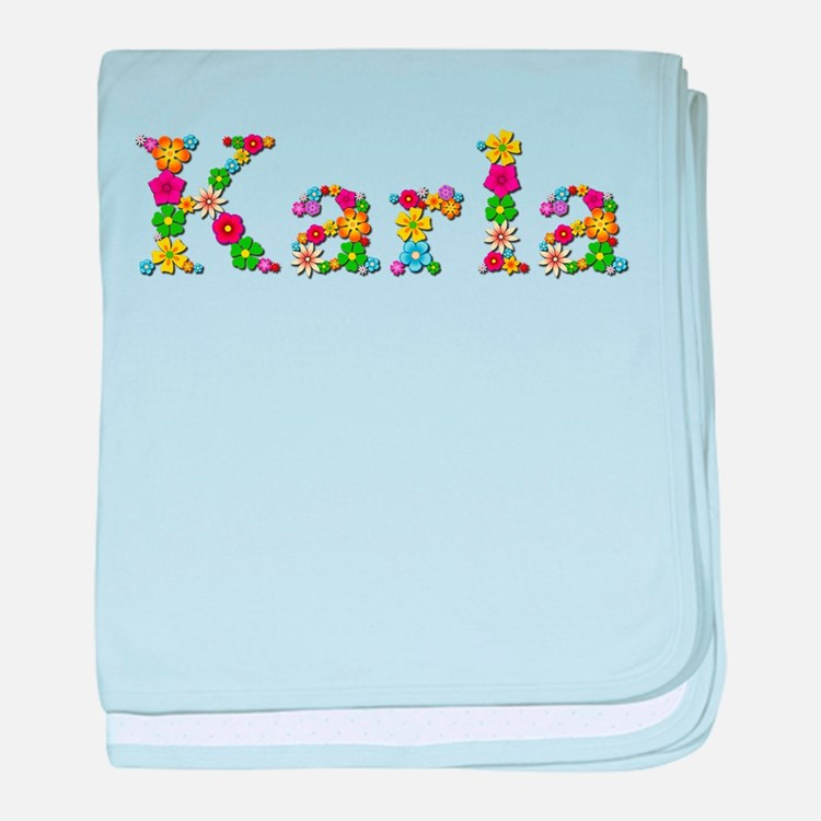 Karla Bright Flowers baby blanket