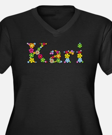 Kari Bright Flowers Plus Size T-Shirt