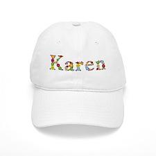 Karen Bright Flowers Baseball Baseball Cap