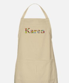 Karen Bright Flowers Apron