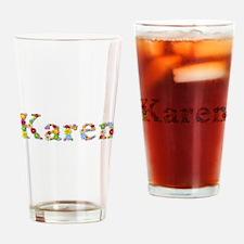 Karen Bright Flowers Drinking Glass
