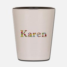 Karen Bright Flowers Shot Glass