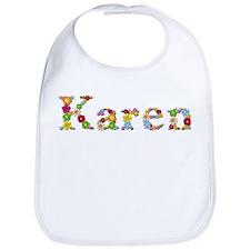 Karen Bright Flowers Bib