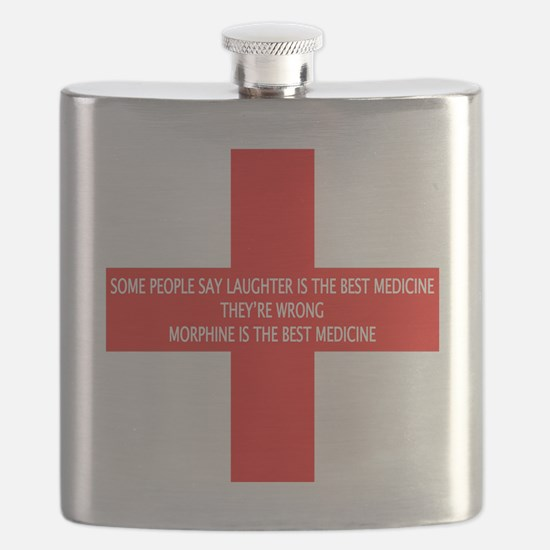 MORPHINE IS THE BEST MEDICINE Flask