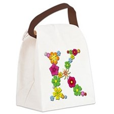 K Bright Flowers Canvas Lunch Bag