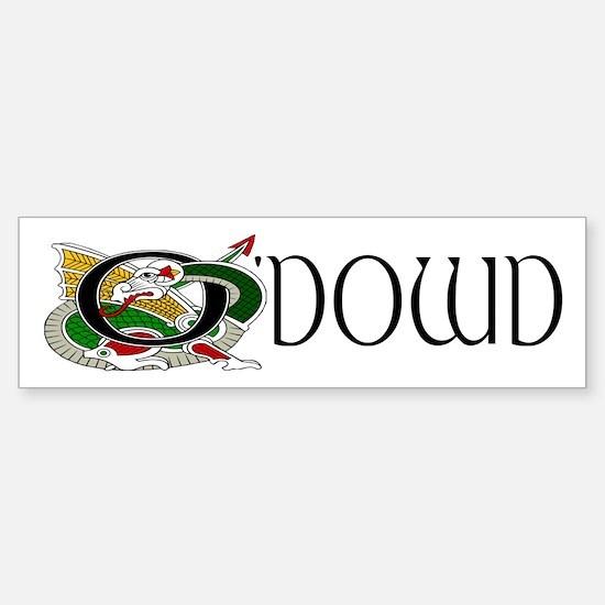 O'Dowd Celtic Dragon Bumper Bumper Bumper Sticker