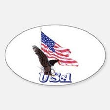 USA Eagle Oval Decal