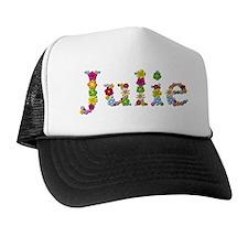Julie Bright Flowers Trucker Hat