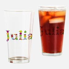 Julia Bright Flowers Drinking Glass