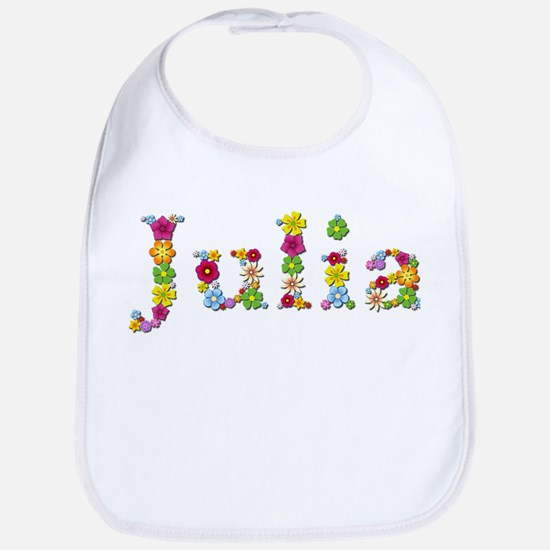 Julia Bright Flowers Bib