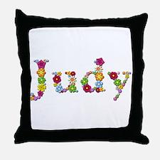 Judy Bright Flowers Throw Pillow