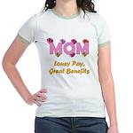 Mom Paycheck Jr. Ringer T-Shirt