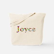 Joyce Bright Flowers Tote Bag