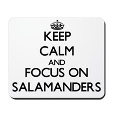 Keep calm and focus on Salamanders Mousepad