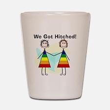 We got hitched LARGE Shot Glass