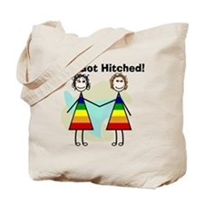 We got hitched LARGE Tote Bag