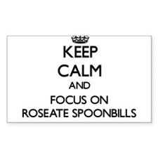 Keep calm and focus on Roseate Spoonbills Decal