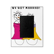 we got married Vertical Picture Frame
