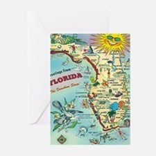 Vintage Greetings from Florida Greeting Cards