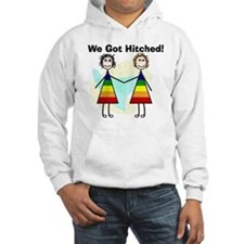 We got hitched LARGE Hoodie