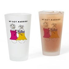 we got married Drinking Glass