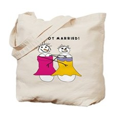 we got married Tote Bag