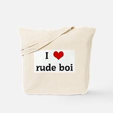 I Love rude boi Tote Bag